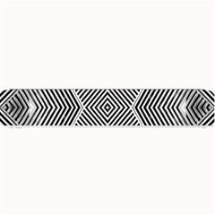 Black And White Line Abstract Small Bar Mats by Simbadda