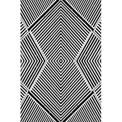 Black And White Line Abstract 5 5  X 8 5  Notebooks by Simbadda