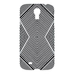 Black And White Line Abstract Samsung Galaxy S4 I9500/i9505 Hardshell Case by Simbadda
