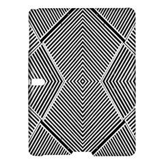Black And White Line Abstract Samsung Galaxy Tab S (10 5 ) Hardshell Case  by Simbadda