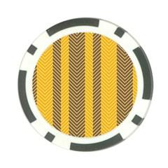 Brown And Orange Herringbone Pattern Wallpaper Background Poker Chip Card Guard (10 Pack) by Simbadda