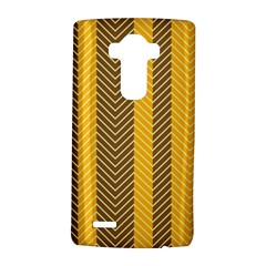 Brown And Orange Herringbone Pattern Wallpaper Background Lg G4 Hardshell Case by Simbadda