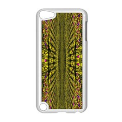 Fractal In Purple And Gold Apple Ipod Touch 5 Case (white) by Simbadda