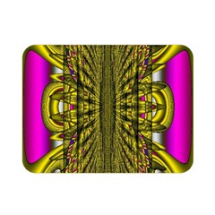 Fractal In Purple And Gold Double Sided Flano Blanket (mini)  by Simbadda