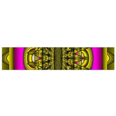 Fractal In Purple And Gold Flano Scarf (small) by Simbadda