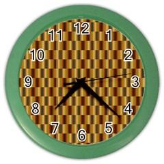 Gold Abstract Wallpaper Background Color Wall Clocks by Simbadda