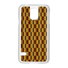 Gold Abstract Wallpaper Background Samsung Galaxy S5 Case (white) by Simbadda