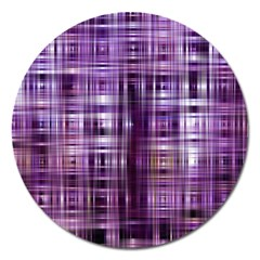 Purple Wave Abstract Background Shades Of Purple Tightly Woven Magnet 5  (Round) by Simbadda