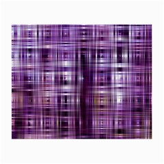 Purple Wave Abstract Background Shades Of Purple Tightly Woven Small Glasses Cloth by Simbadda