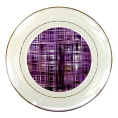 Purple Wave Abstract Background Shades Of Purple Tightly Woven Porcelain Plates