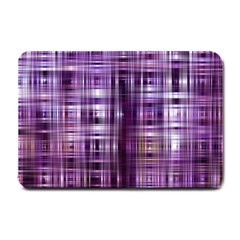 Purple Wave Abstract Background Shades Of Purple Tightly Woven Small Doormat  by Simbadda