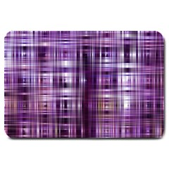 Purple Wave Abstract Background Shades Of Purple Tightly Woven Large Doormat  by Simbadda