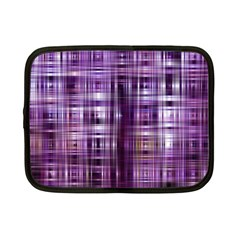 Purple Wave Abstract Background Shades Of Purple Tightly Woven Netbook Case (small)  by Simbadda