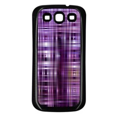 Purple Wave Abstract Background Shades Of Purple Tightly Woven Samsung Galaxy S3 Back Case (black)