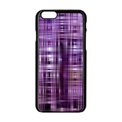 Purple Wave Abstract Background Shades Of Purple Tightly Woven Apple Iphone 6/6s Black Enamel Case by Simbadda