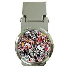 Abstract Composition Digital Processing Money Clip Watches by Simbadda