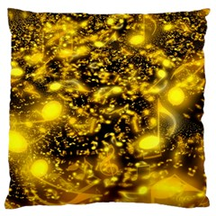 Vortex Glow Abstract Background Large Cushion Case (two Sides) by Simbadda