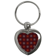 Abstract Dotted Pattern Elegant Background Key Chains (heart)  by Simbadda