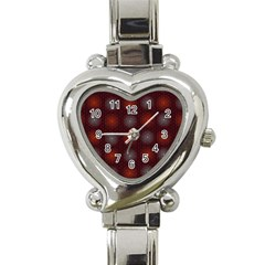 Abstract Dotted Pattern Elegant Background Heart Italian Charm Watch by Simbadda