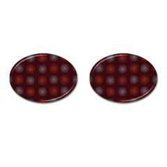Abstract Dotted Pattern Elegant Background Cufflinks (oval) by Simbadda