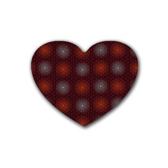 Abstract Dotted Pattern Elegant Background Rubber Coaster (heart)  by Simbadda