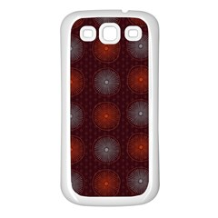 Abstract Dotted Pattern Elegant Background Samsung Galaxy S3 Back Case (white) by Simbadda
