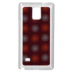 Abstract Dotted Pattern Elegant Background Samsung Galaxy Note 4 Case (white) by Simbadda