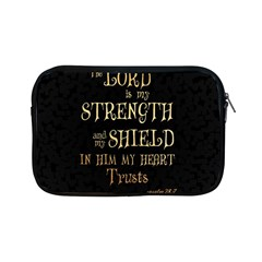 The Lord Is My Strength And My Shield In Him My Heart Trusts      Inspirational Quotes Apple Ipad Mini Zipper Cases by chirag505p