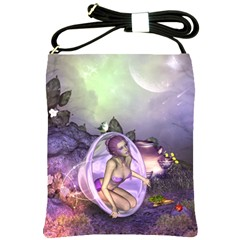 Wonderful Fairy In The Wonderland , Colorful Landscape Shoulder Sling Bags by FantasyWorld7