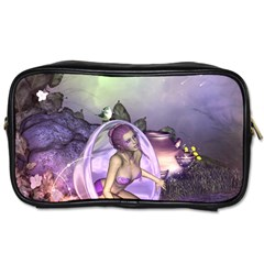 Wonderful Fairy In The Wonderland , Colorful Landscape Toiletries Bags 2 Side by FantasyWorld7
