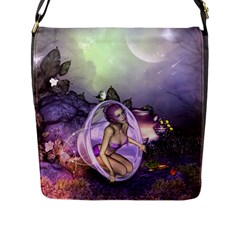 Wonderful Fairy In The Wonderland , Colorful Landscape Flap Messenger Bag (l)  by FantasyWorld7