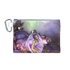 Wonderful Fairy In The Wonderland , Colorful Landscape Canvas Cosmetic Bag (m) by FantasyWorld7