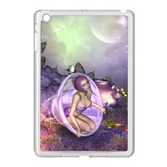 Wonderful Fairy In The Wonderland , Colorful Landscape Apple Ipad Mini Case (white) by FantasyWorld7