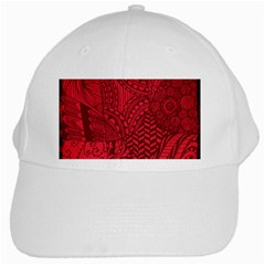 Deep Red Background Abstract White Cap by Simbadda