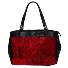 Deep Red Background Abstract Office Handbags by Simbadda