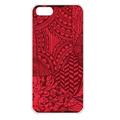 Deep Red Background Abstract Apple Iphone 5 Seamless Case (white) by Simbadda