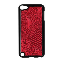Deep Red Background Abstract Apple Ipod Touch 5 Case (black) by Simbadda