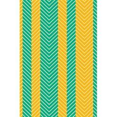 Green And Orange Herringbone Wallpaper Pattern Background 5 5  X 8 5  Notebooks by Simbadda