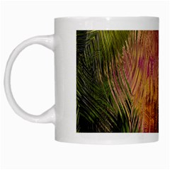 Abstract Brush Strokes In A Floral Pattern  White Mugs by Simbadda