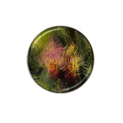 Abstract Brush Strokes In A Floral Pattern  Hat Clip Ball Marker (4 Pack) by Simbadda