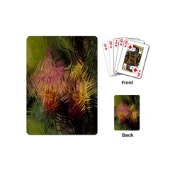 Abstract Brush Strokes In A Floral Pattern  Playing Cards (mini)  by Simbadda