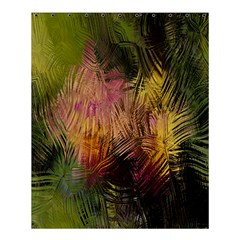Abstract Brush Strokes In A Floral Pattern  Shower Curtain 60  X 72  (medium)  by Simbadda