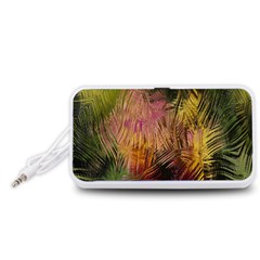 Abstract Brush Strokes In A Floral Pattern  Portable Speaker (white) by Simbadda