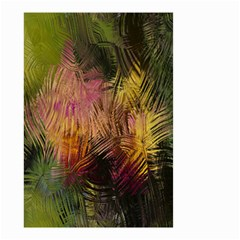 Abstract Brush Strokes In A Floral Pattern  Small Garden Flag (two Sides) by Simbadda
