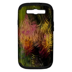 Abstract Brush Strokes In A Floral Pattern  Samsung Galaxy S III Hardshell Case (PC+Silicone)