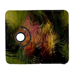 Abstract Brush Strokes In A Floral Pattern  Galaxy S3 (flip/folio) by Simbadda