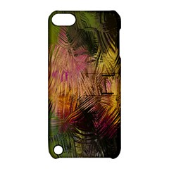 Abstract Brush Strokes In A Floral Pattern  Apple Ipod Touch 5 Hardshell Case With Stand by Simbadda