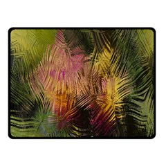 Abstract Brush Strokes In A Floral Pattern  Double Sided Fleece Blanket (small)  by Simbadda