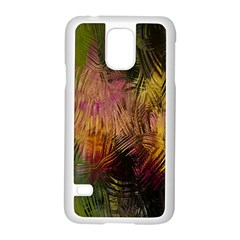 Abstract Brush Strokes In A Floral Pattern  Samsung Galaxy S5 Case (white) by Simbadda