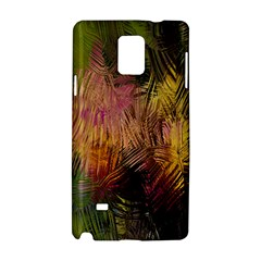 Abstract Brush Strokes In A Floral Pattern  Samsung Galaxy Note 4 Hardshell Case by Simbadda